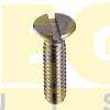 PARAFUSO CABEÇA CHATA FENDA SIMPLES M3 0,50 MA X 25 DIN 963 EN ISO 2009 INOX A2