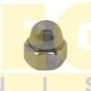 PORCA CALOTA M3 0,50 MA X CHAVE 5,5 DIN 1587 INOX A2
