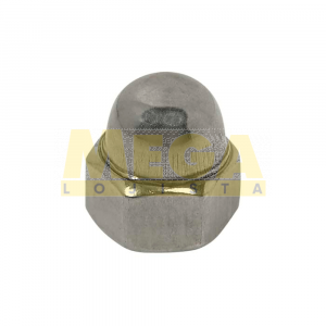 PORCA CALOTA M5 0,80 MA X CHAVE 8 DIN 1587 INOX A2