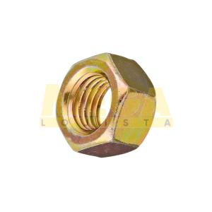 PORCA SEXTAVADA 5/16 18-UNC X CHAVE 1/2 ASME / ANSI B18.2.2 AÇO CARBONO GRAU 2 BICROMATIZADO