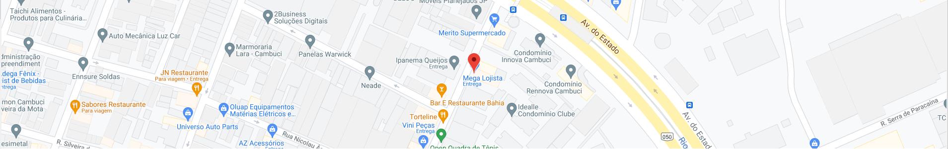 Localização Mega Lojista